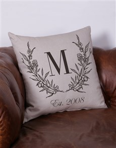 gifts: Personalised Vintage Initial Scatter Cushion!