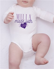 gifts: Personalised Made With Love Onesie!
