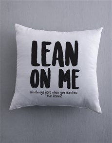 gifts: Personalised Lean On Me Scatter Cushion!