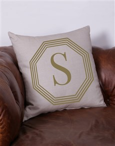 gifts: Personalised Glam Intial Scatter Cushion!