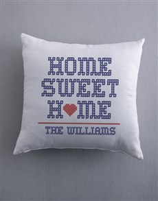 gifts: Personalised Home Sweet Home Scatter Cushion!