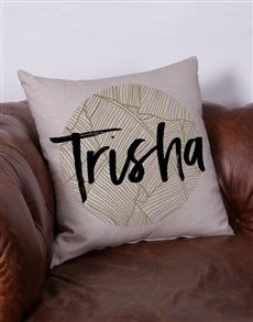 gifts: Personalised Leaves Name Scatter Cushion!
