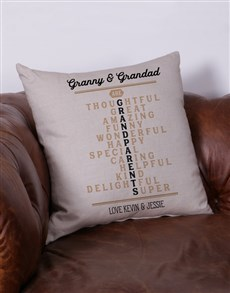 gifts: Personalised Grandparents Scatter Cushion!
