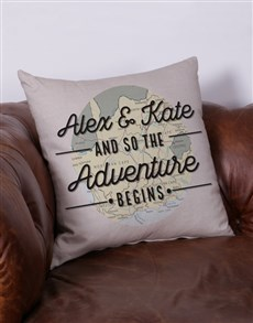 gifts: Personalised Adventure Scatter Cushion!