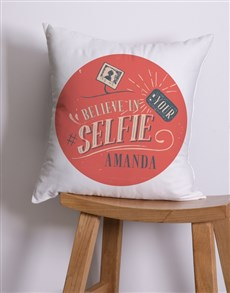 gifts: Personalised Selfie Scatter Cushion!