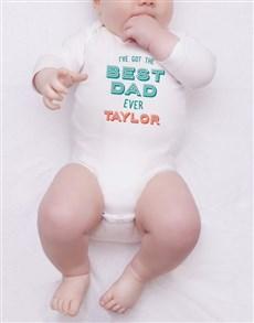 gifts: Personalised Best Dad Ever Onesie!