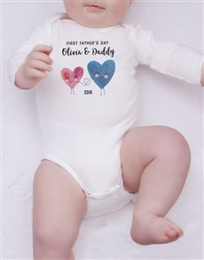 gifts: Personalised First Fathers Day Girl Onesie!