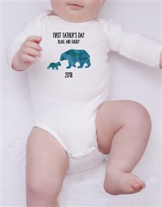 gifts: Personalised First Fathers Day Boy Onesie!