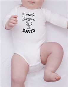 gifts: Personalised Cricket With Daddy Onesie!