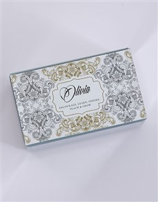 gifts: Personalised Vintage Mirror Trinket Box!