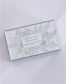 gifts: Personalised Botanic Mirror Trinket Box!