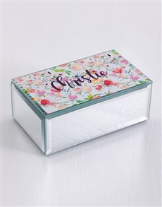 gifts: Personalised Watercolour Mirror Trinket Box!