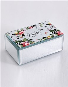 gifts: Personalised Vintage Rose Mirror Trinket Box!
