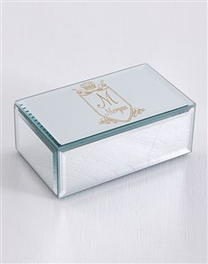 gifts: Personalised Vintage Crest Mirror Trinket Box!