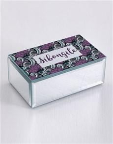 gifts: Personalised Paisley Mirror Trinket Box!