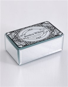 gifts: Personalised Distressed Mirror Trinket Box!