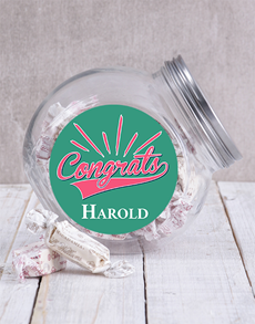 gifts: Personalised Congrats Candy Jar!