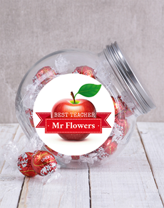 gifts: Personalised Best Teacher Candy Jar!