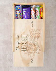 gifts: Personalised Chocolate Wasted Crate!