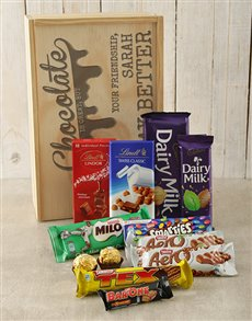 gifts: Personalised Friendship Chocolate Crate!