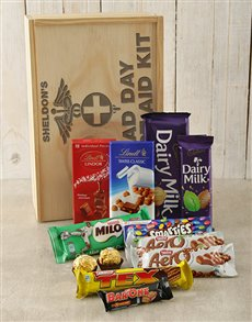 gifts: Personalised First Aid Chocolate Crate!