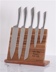 gifts: Personalised Silver Design Knife Block!