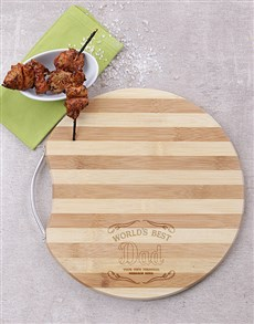 gifts: Personalised Best Dad Chopping Board!