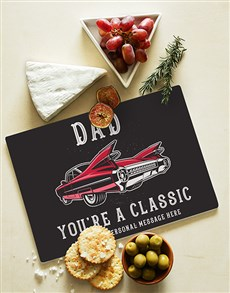 gifts: Personalised Classic Dad Glass Chopping Board !