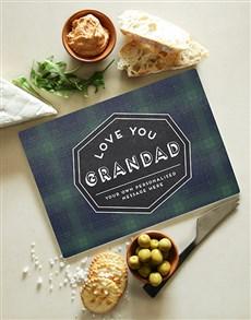 gifts: Personalised Grandad Glass Chopping Board !