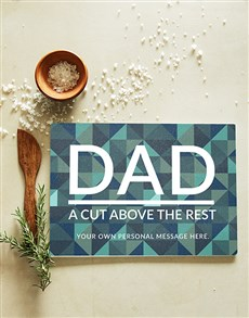 gifts: Personalised Dad Glass Chopping Board!