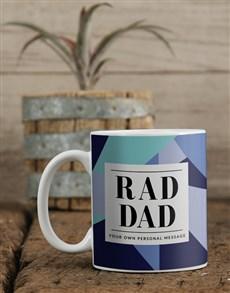 gifts: Personalised Blue Rad Dad Mug!
