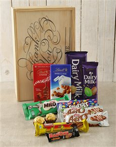 gifts: Personalised Thank You Chocolate Crate!