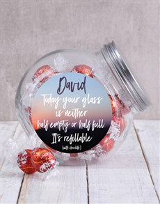 gifts: Personalised Glass Half Full Candy Jar!