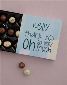 gifts: Personalised Thank You So Much Choc Tray!