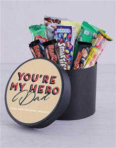 gifts: Personalised My Hero Chocolate Hat Box!