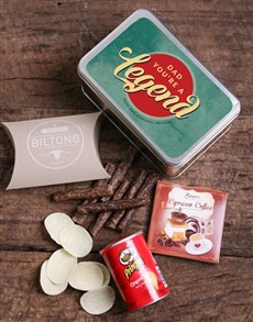 gifts: Personalised Legendary Dad Snack Tin!