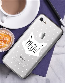 gifts: Personalised Meow iPhone Cover!