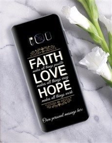 gifts: Personalised Faith Samsung Cover!