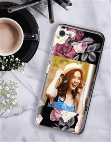 gifts: Personalised Floral Photo iPhone Cover!