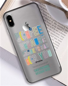 gifts: Personalised Coffee iPhone Cover!