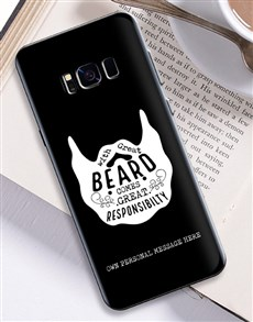 gifts: Personalised Beard Samsung Cover!
