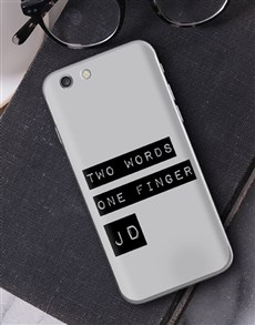 gifts: Personalised Two Words iPhone Cover!