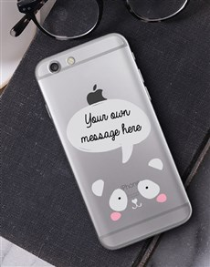 gifts: Personalised Panda iPhone Cover!