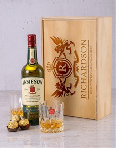 gifts: Personalised Jameson and Crystal Crate!