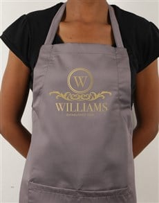 gifts: Personalised Family Crescent Apron!