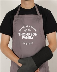 gifts: Personalised Official Keeper Apron!
