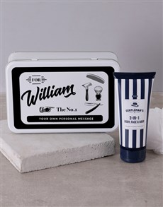 gifts: Personalised Gents Shaving Tin!