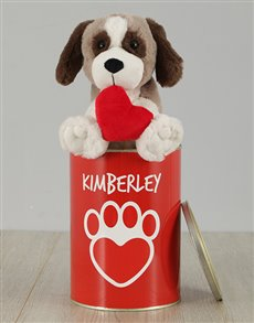 gifts: Puppy Heart Tin Personalised!