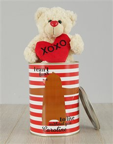 gifts: Personalised Live Without You Teddy Tin!