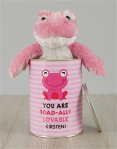 gifts: Personalised Pink Frog Love Tin!